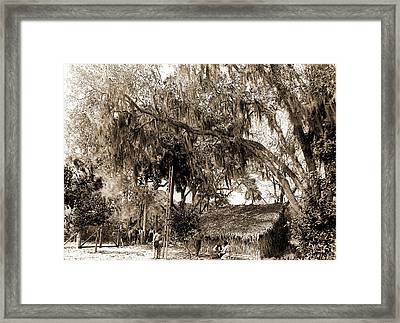Orange Pickers, Ormond, Fla, Jackson, William Henry Framed Print by Litz Collection
