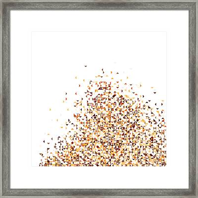 Orange Pixels Framed Print