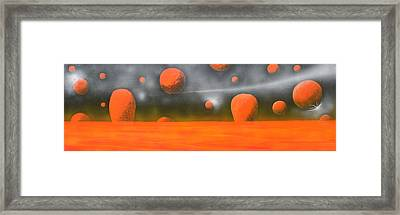 Orange Planet Framed Print by Tim Mullaney