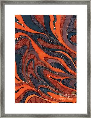 Orange Purple Blue Silk Design 1 Framed Print