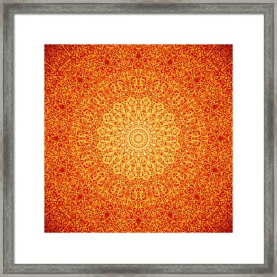 Orange Quasicrystal Framed Print by Dan Gries