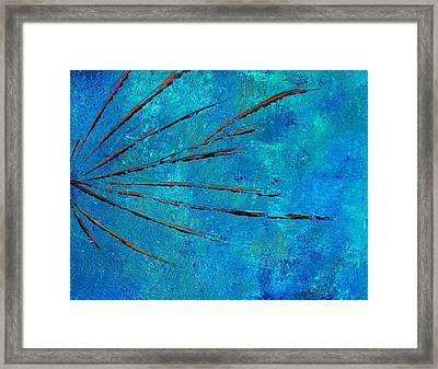 Orange Rays Framed Print by Kenneth Feliciano