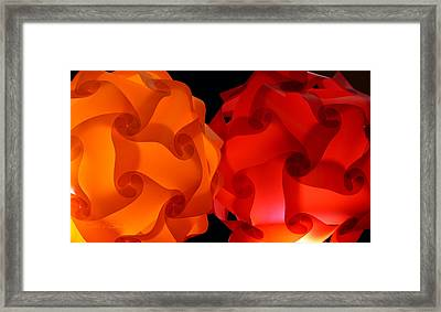 Orange Red-orange Framed Print