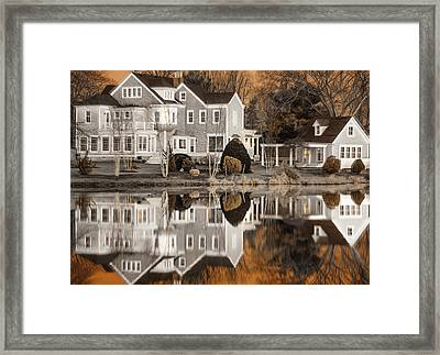 Orange Reflection Framed Print by Vicki Jauron