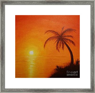 Framed Print featuring the painting Orange Reflections by Arlene Sundby