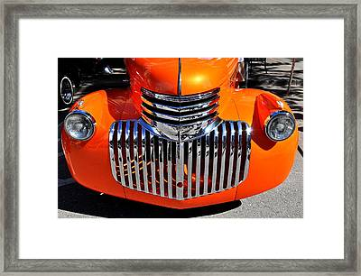Orange Retro Framed Print by Marina Slusar