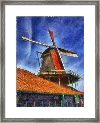 Orange Sails Framed Print by Rick Lloyd