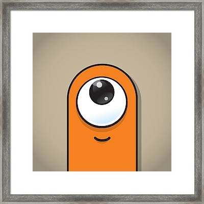 Orange Framed Print by Samuel Whitton