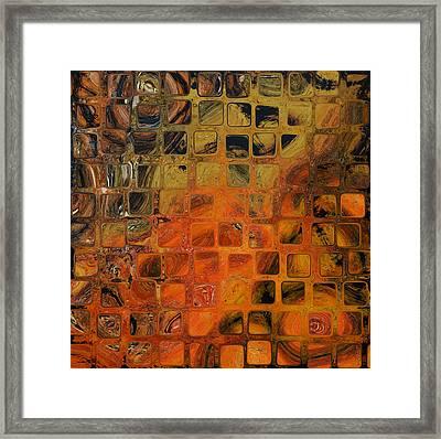 Orange Sea  Framed Print by Andrada Anghel