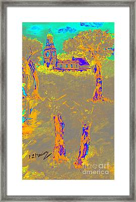 Orange Shadows Framed Print