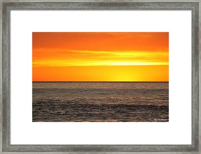 Orange Sherbet Framed Print