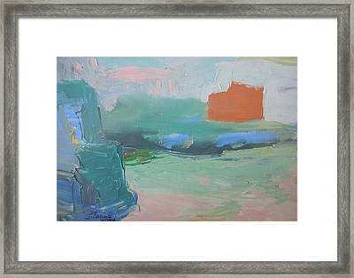 Orange Ship Framed Print