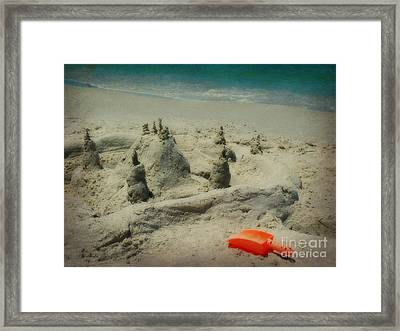 Orange Shovel Framed Print by Valerie Reeves