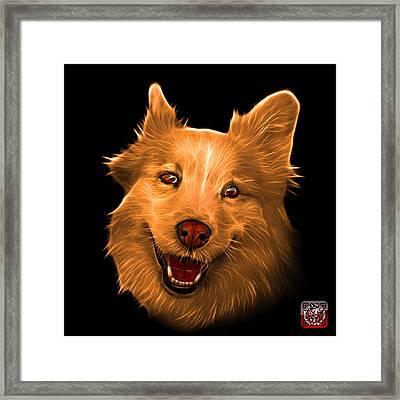 Orange Siberian Husky Mix Dog Pop Art - 5060 Bb Framed Print by James Ahn