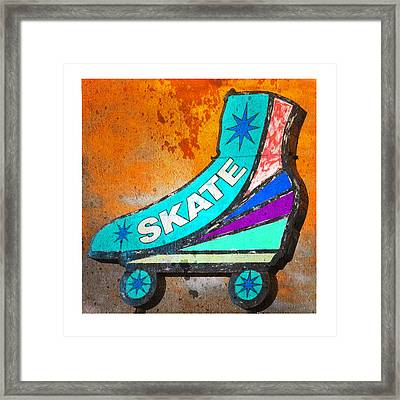 Orange Skate Framed Print by Gail Lawnicki