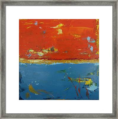 Orange Sky 2 Framed Print