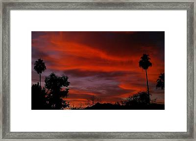 Framed Print featuring the photograph Orange Sky by Chris Tarpening