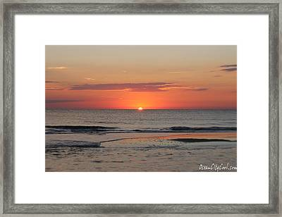 Framed Print featuring the photograph Orange Sky Dawn by Robert Banach