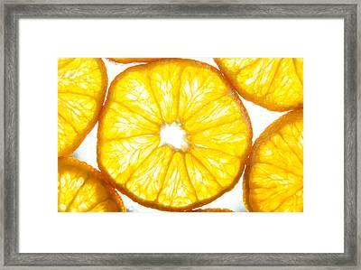 Orange. Framed Print by Slavica Koceva