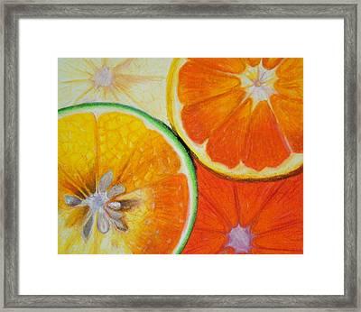 Orange Slices Framed Print