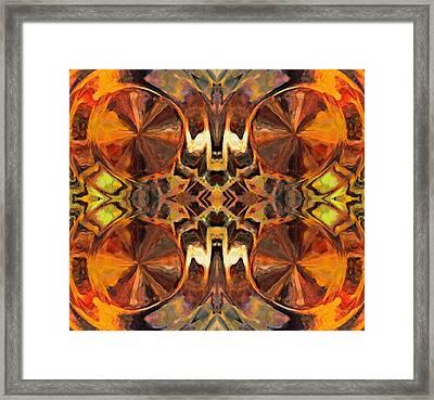 Orange Slices Ornamental Abstract Framed Print