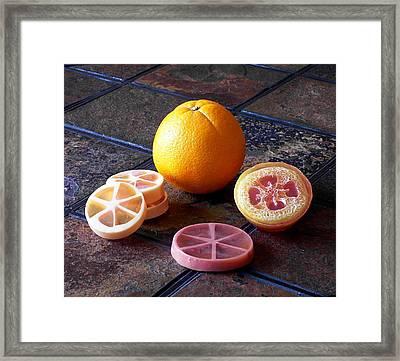 Orange Slices Soap Framed Print