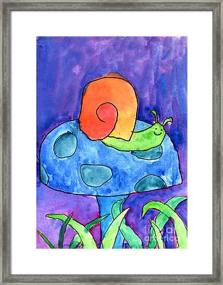 Orange Snail Framed Print