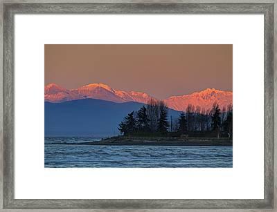 Orange Snow Framed Print by Randy Hall