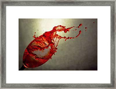 Orange Splash 2 Framed Print by Mary Martin