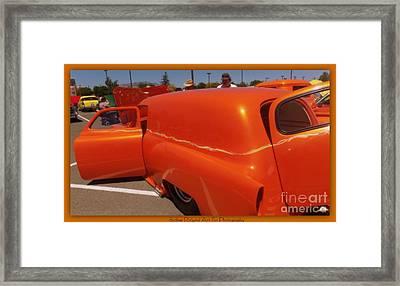 Orange Splash Panel Framed Print by Bobbee Rickard