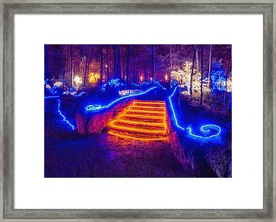 Orange Steps Framed Print