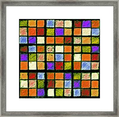 Orange Sudoku Puzzle Framed Print by Karen Adams