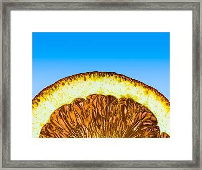 Orange Sunrise Framed Print by Alexander Senin