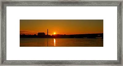 Orange Sunrise Over Dc Framed Print