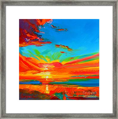 Orange Sunset Landscape Framed Print by Patricia Awapara