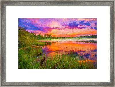 Orange Sunset Framed Print by Yury Malkov