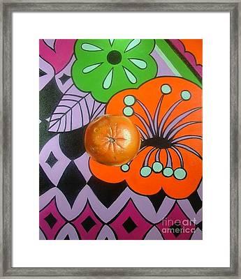 orange Sunshine Framed Print by Shelley Laffal