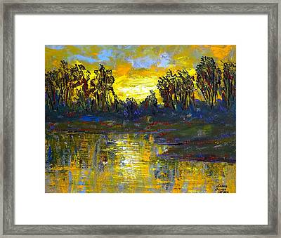 Orange Swamp Framed Print