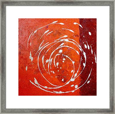 Orange Swirl Framed Print