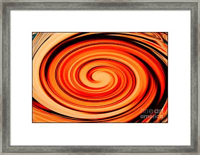 Orange Twist Framed Print by Carol Groenen