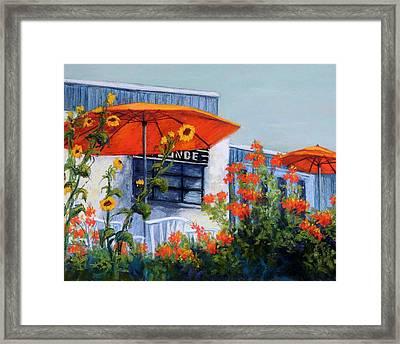 Orange Umbrellas Framed Print by Candy Mayer