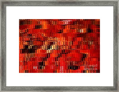 Orange Under Glass Abstract Framed Print by Carol Groenen
