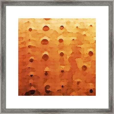 Orange Urchin  Framed Print by Bonnie Bruno
