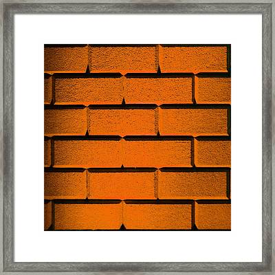 Orange Wall Framed Print