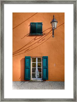 Framed Print featuring the photograph Orange Wall  by Uri Baruch