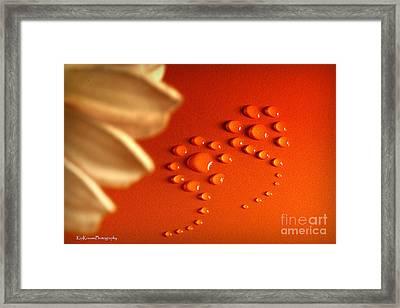 Orange Water Flowers Framed Print by Kip Krause