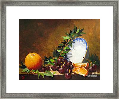 Orange With Bowl Framed Print