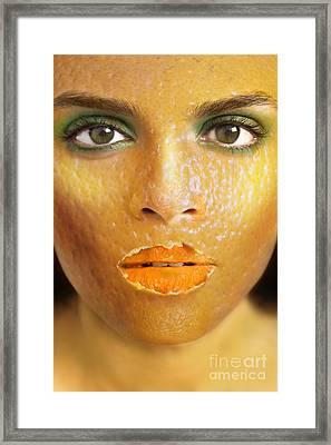 Orange Woman Framed Print by Diane Diederich