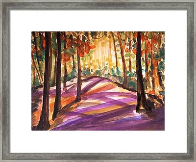 Orange Woods Framed Print