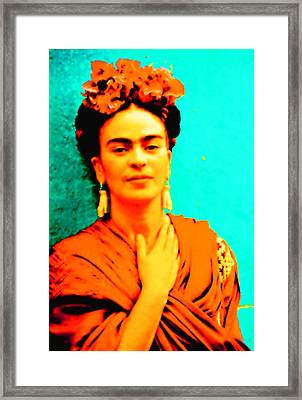 Orange You Glad It Is Frida Framed Print